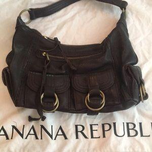 Banana republic brown leather shoulder bag
